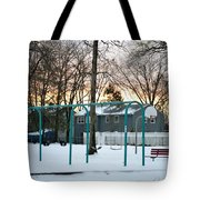 Park In Winter Tote Bag