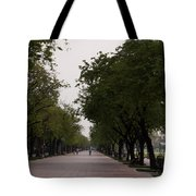 Park Leading To The King Of Thailands Palace Tote Bag