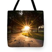 Park Sunburst Portrait Tote Bag