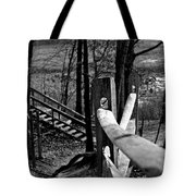 Park Trail Bw Tote Bag