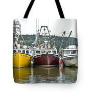 Parked Fishing Boats Tote Bag