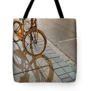 Parking On The Street At Sundown Tote Bag