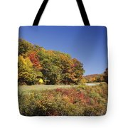 Parkway Road In North Carolina Tote Bag