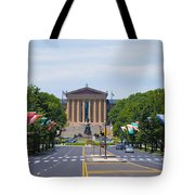 Parkway View Of The Museum Of Art Tote Bag