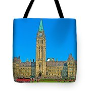 Parliament Building In Ottawa-on Tote Bag