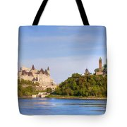 Parliament Buildings And The Fairmont Tote Bag