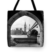 Parliament Through An Archway Tote Bag