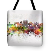 Parma Skyline In Watercolor Background Tote Bag