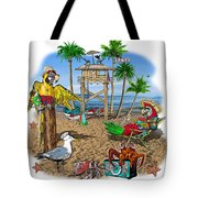 Parrot Beach Party Tote Bag