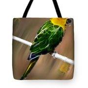 Parrot Beauty Digital Artwork Tote Bag
