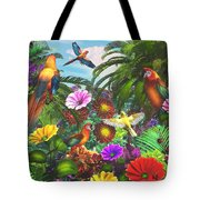 Parrot Jungle Tote Bag