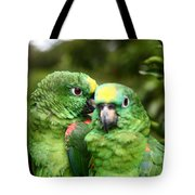 Parrot Whispers Tote Bag
