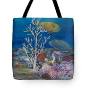 Parrots Of The Reef Tote Bag