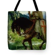Parsifal In Quest Of The Holy Grail Tote Bag