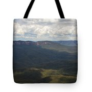 Partly Cloudy Day In The Blue Mountains Tote Bag