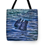 Partners In Blue Tote Bag