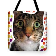 Party Animal- Cat With Confetti Tote Bag