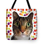 Party Animal - Smaller Cat With Confetti Tote Bag