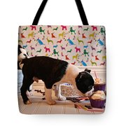 Party On Puppy Tote Bag