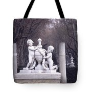 Paseo Del Prado In Winter Madrid Tote Bag