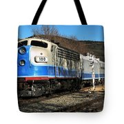 Passenger Train Tote Bag