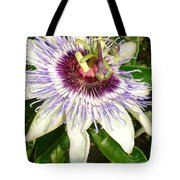Passiflora Close Up With Garden Background  Tote Bag