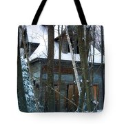 Passing One Snowy Eve 2 Tote Bag
