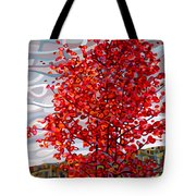 Passing Storm Tote Bag by Mandy Budan