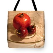 Passion Fruit And Pomegranate Tote Bag