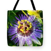 Passion Fruit Flower Tote Bag
