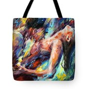 Passion - Palette Knife Figures Of Lovers Oil Painting On Canvas By Leonid Afremov Tote Bag
