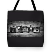 Past Cameras Tote Bag