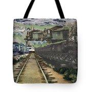 Past Century Trains Tote Bag