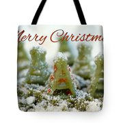 Pasta Christmas Trees With Text Tote Bag
