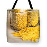 Pasta Shapes Still Life Tote Bag by Edward Fielding