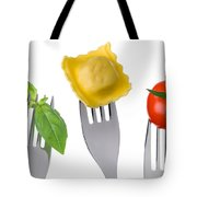 Pasta Tomato And Basil Tote Bag