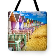 Pastel Beach Huts 2 Tote Bag
