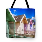 Pastel Beach Huts 3 Tote Bag