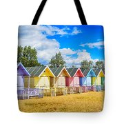 Pastel Beach Huts Tote Bag by Chris Thaxter