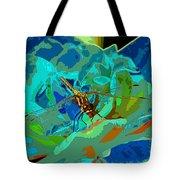 Pastel Dragonfly Rose Tote Bag