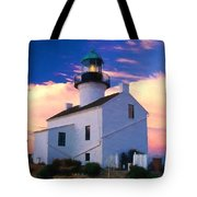 Pastel Drawing Old Point Loma Lighthouse Cabrillo National Monument California Tote Bag