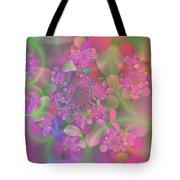 Pastel  Fractal Flower Garden Tote Bag