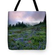 Pastel Mountain Dawn Tote Bag
