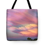 Pastel Painted Sunset Sky Tote Bag