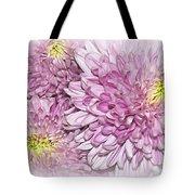 Pastel Pink Mums Tote Bag