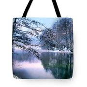 Pastel Pond Tote Bag