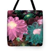 Pastel Posies Tote Bag by Peggi Wolfe