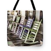 Pastel Rocking Chairs Tote Bag