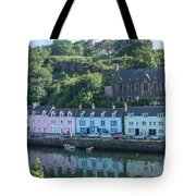 Pastel Rowhome In The Bay Highlands Scotland Tote Bag