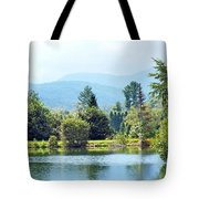 Pastoral Pond And Valley Tote Bag